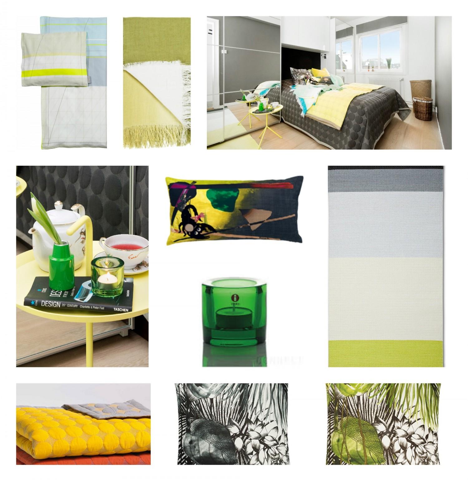 Hay sengeteppe gult